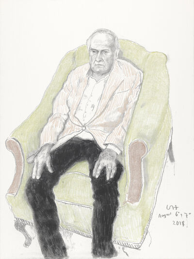David Hockney, 'John Richardson', 2018