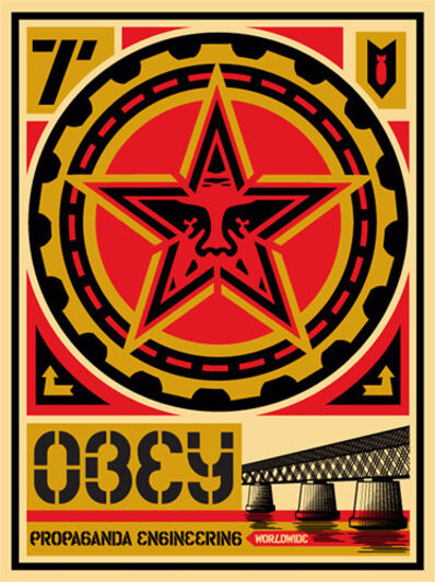 Shepard Fairey, 'Propaganda Engineering', 2009