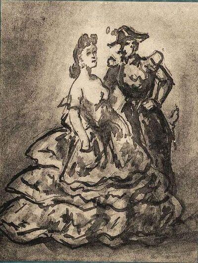 Constantin Guys, 'Le Militaire et l'élègante', Early 20th Century.