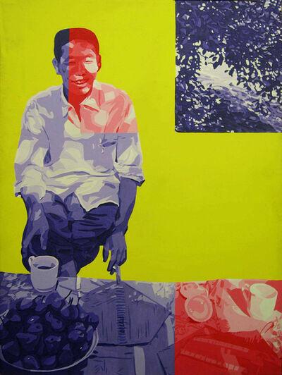 Gérard Fromanger, 'En Chine à Lo Yang (de la Série Le désir est Partout)', 1972