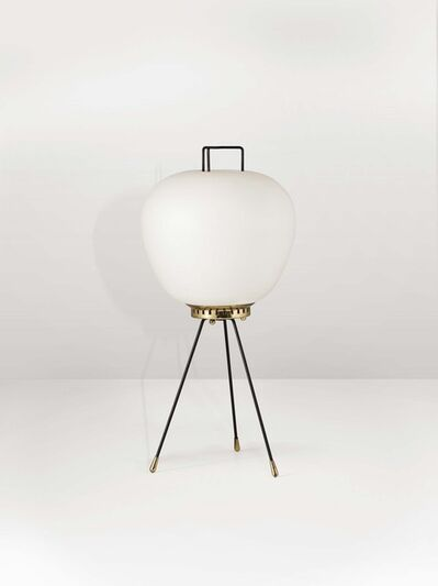 Stilnovo, 'A lamp with a brass structure and opaline glass diffuser', 1950 ca.