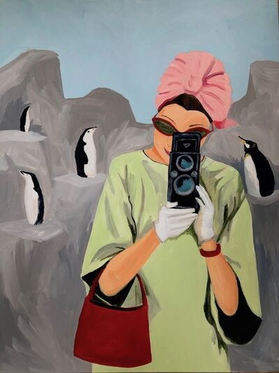 Julie Bowers Murphy, 'Lady at the Polar Circle, Central Park Zoo', 2019
