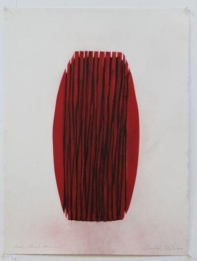 David Nash, 'Red Sliced Form ', 2014
