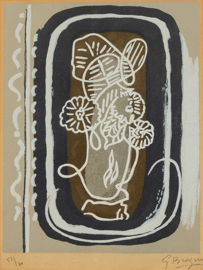 Georges Braque, 'Bouquet des fleurs blanches from Si je mourais là-bas', 1962