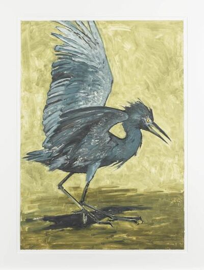John Alexander, 'Baby Blue Heron with Gold Background', 2012