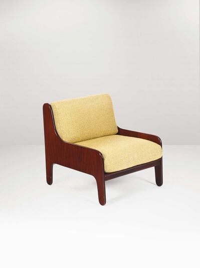 Marco Zanuso, 'A Baronet armchair with a wooden structure and fabric upholstery', 1960 ca.