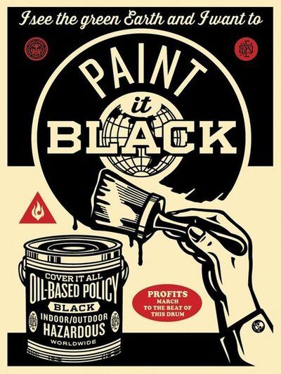 Shepard Fairey, 'Paint It Black (Brush)', 2014