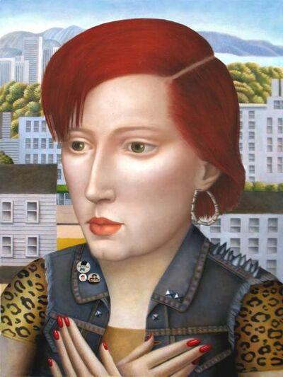 Amy Hill, 'Woman in Denim Vest'