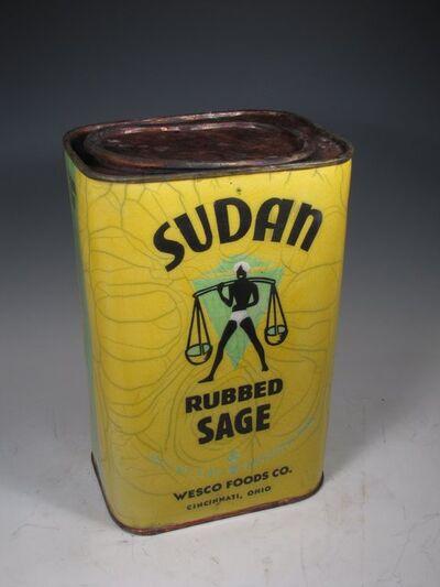 "Karen Shapiro, '""Sudan Sage Tin""', 2016"