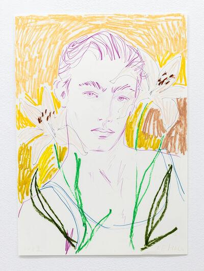Luke Edward Hall, 'Man with Lilies', 2021
