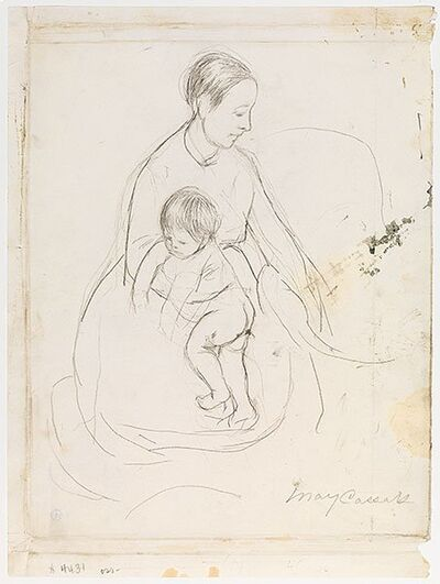 "Mary Cassatt, 'Drawing for ""The Bath""', 1890"