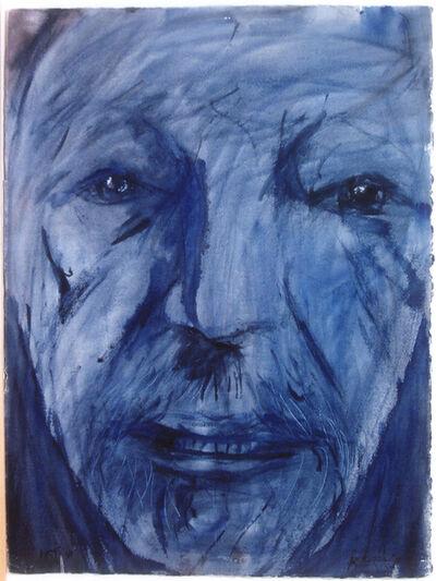 Leonard Baskin, 'Second Post Stroke Self Portrait', 1991