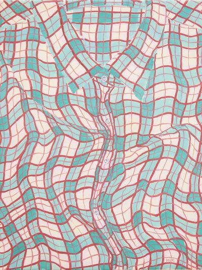 Hannah Knox, 'Plaid Shirt in Faded Blues', 2021