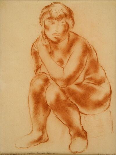 Jean Fautrier, 'Femme nue assise', 1925