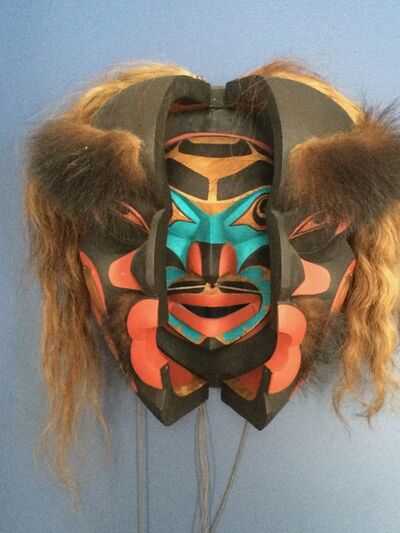 Don Lelooska Smith, 'Dzunukwa, Kwakiutl Transformation mask', 1991