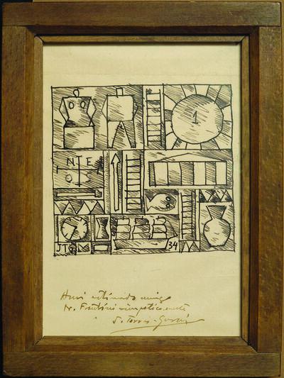 Joaquín Torres-García, 'Composición constructiva / Constructivist Composition', 1934