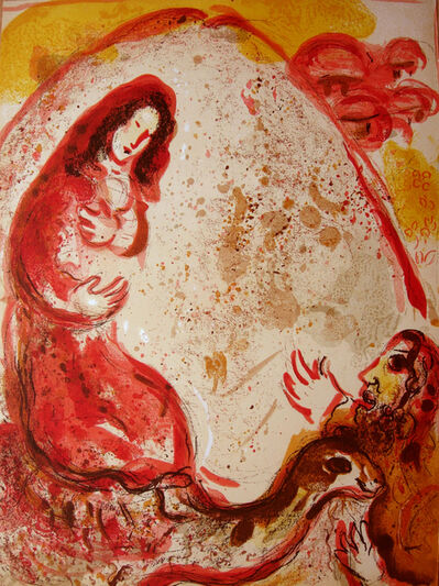 Marc Chagall, 'Rachel steals her father's graven images', 1960