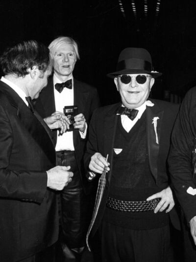 Ron Galella, 'Andy Warhol, Truman Capote and Lester Persky attend Steve Rubell's Birthday Party at Studio 54 New York, December, 2', 1978