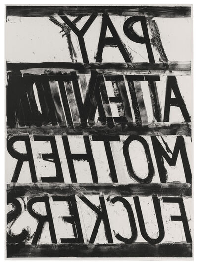 Bruce Nauman, 'Pay Attention', 1973