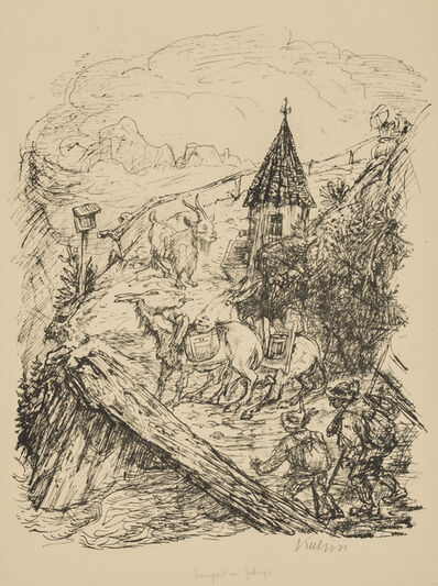 Alfred Kubin, 'Transport in the Mountains', 1929