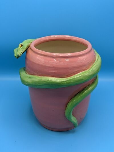 Anna Valdez, 'Green Snake Pink Vase', 2020