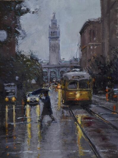 Dean Larson, 'Rainy Market Street', 2019