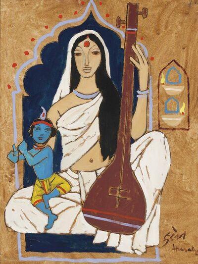 M. F. Husain, 'Untitled (Mirabai with Krishna)'