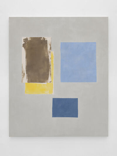 Peter Joseph, 'Brown, Yellow & Two Blues', 2018