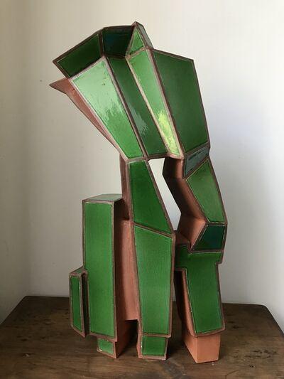 Ann Agee, 'Green Geometric Sculpture', 2020
