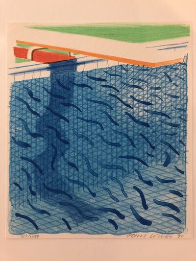 David Hockney, 'Pool Made with Paper and Blue Ink for Book of Paper Pools.', 1980