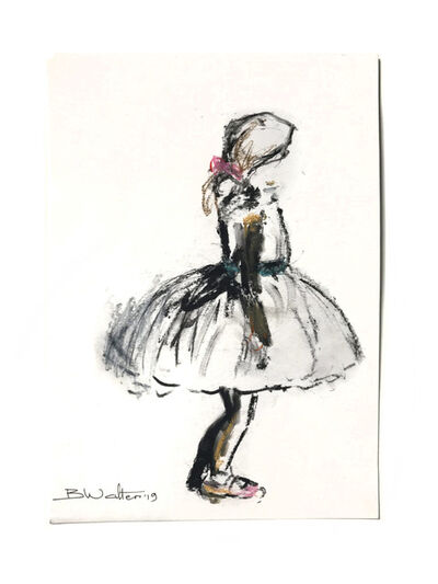Bonnie Walters, 'Ballerina with pink bow and pink shoes', 2019