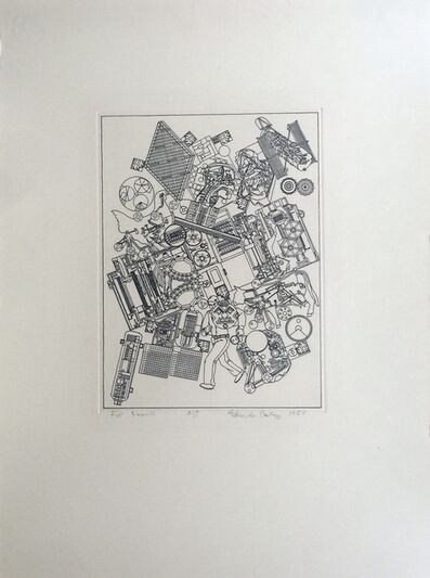 Eduardo Paolozzi, 'RARE Lithograph with personal dedication to Frank Martin, legendary head of sculpture department at St. Martin's School of Art', 1980