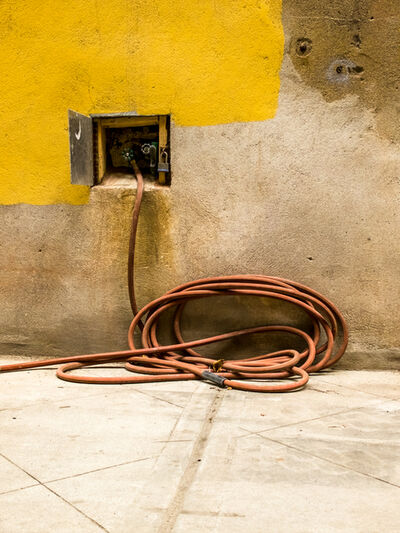 F. Emmanuel Bastien, 'Hose and Yellow Wall, New York'