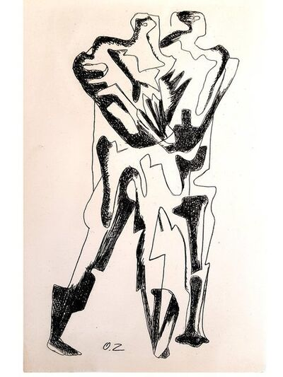 "Ossip Zadkine, 'Original Etching ""The Last Step"" by Ossip Zadkine', 1966"
