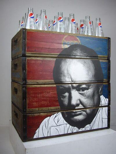 Pakpoom Silaphan, 'Churchill On Pepsi Crates', 2019