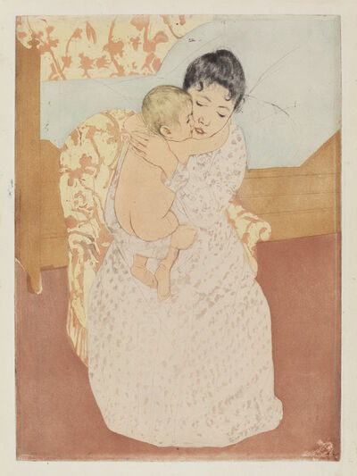 Mary Cassatt, 'Maternal Caress', ca. 1891