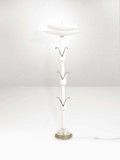 Murano, 'A floor lamp with a metal and Murano glass structure', 1960 ca.