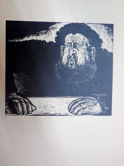 Arthur Kolnik, 'Expressionist Rabbi at study', 1930-1939