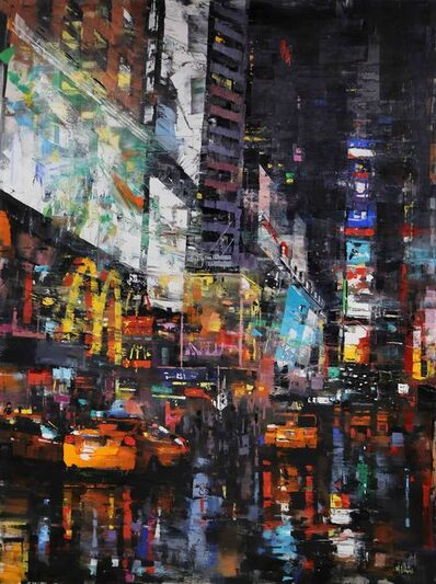 Mark Lague, 'Taxis in Times Square', 2019