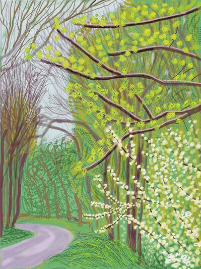 David Hockney, 'The Arrival of Spring in Woldgate, East Yorkshire in 2011 (twenty eleven) - 14 April (2011)', 2011