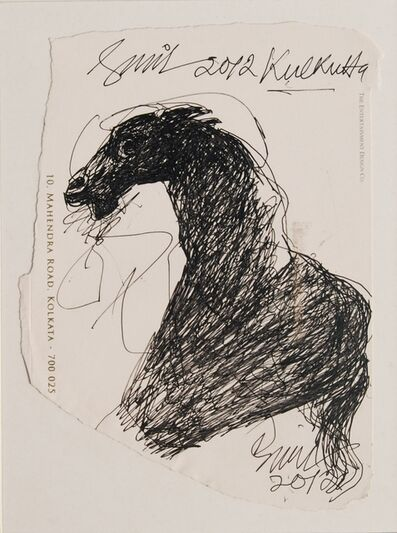 "Sunil Das, 'Horse, Ink on Paper by Modern Artist Sunil Das ""In Stock""', 2012"