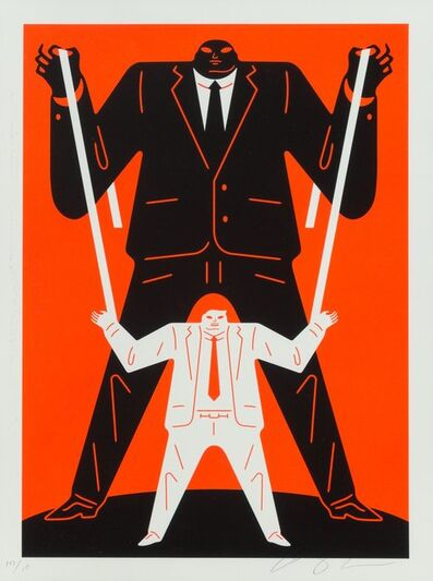 Cleon Peterson, 'Little Big Man (Black on Red)', 2018