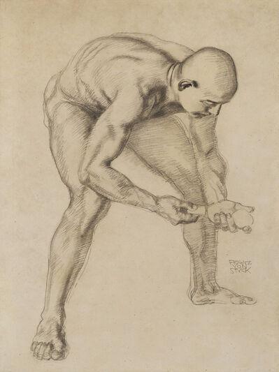 Franz von Stuck, 'Male Nude Study II', ca. 1912