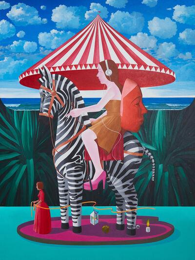 Knakorn Kachacheewa, 'Girl with a Mask on Horse', 2020