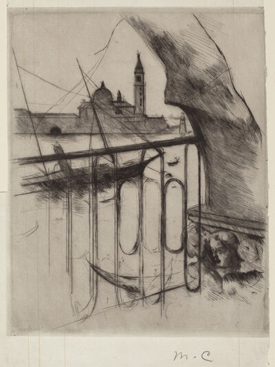 Mary Cassatt, 'View of Venice', 1887