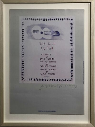 David Hockney, 'THE BLUE GUITAR: ETCHINGS HAND SIGNED', 1983