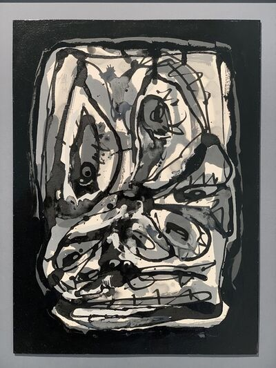 Antonio Saura, 'head', 1979