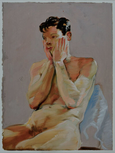 Jillian Denby, 'Seated Boy with Arms Raised', 1980