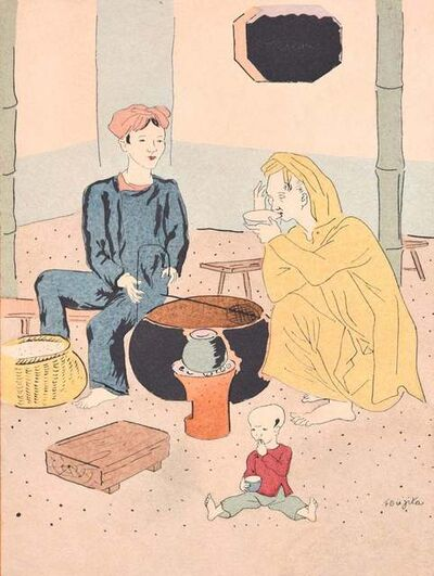 Léonard Tsuguharu Foujita, 'A Pleasant Lunch', 1928