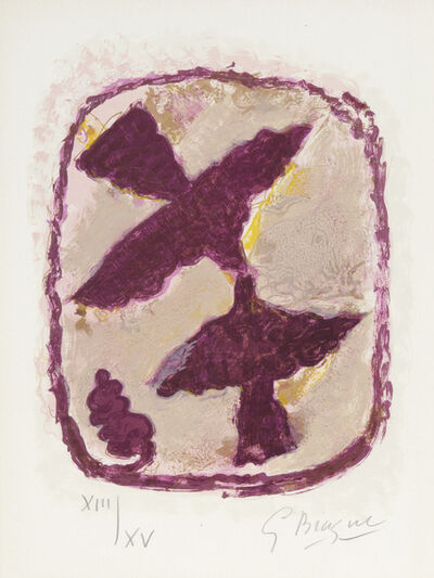 Georges Braque, 'Les Oiseaux Fulgrants, from Lettera Amorosa', 1963